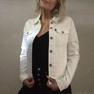 White Levi denim jacket